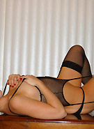 Natalie Sparks in hot black fishnet